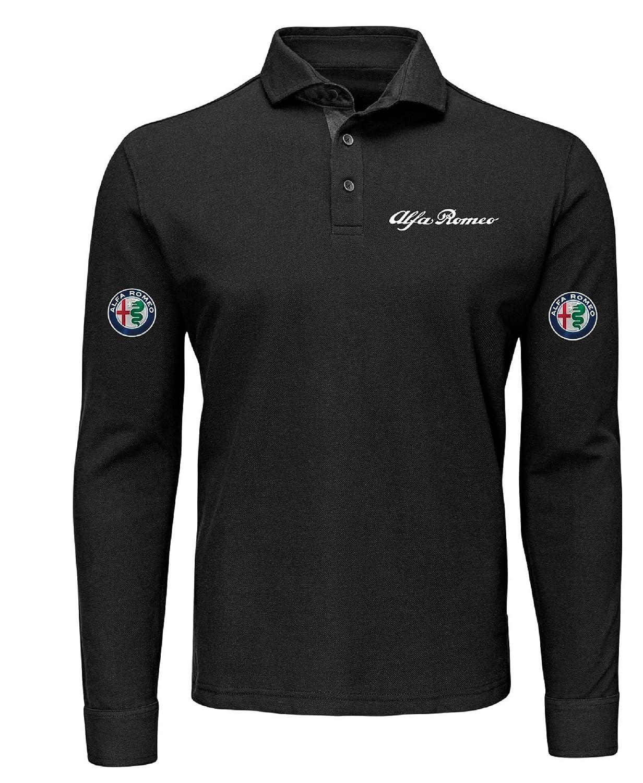 Polo Manga Larga Camiseta Estilo Alfa Romeo Mito Giulietta Giulia ...