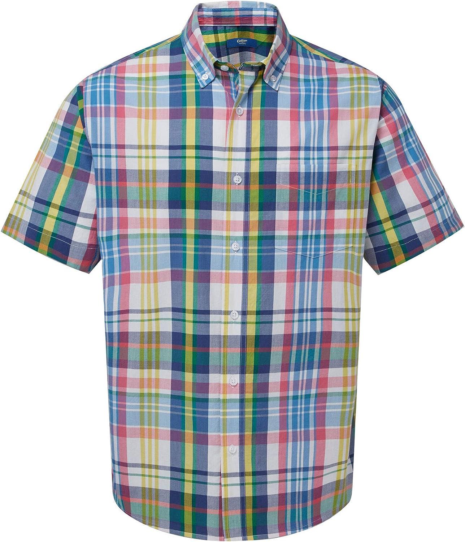 Cotton Traders Mens Short Sleeve Check Shirt