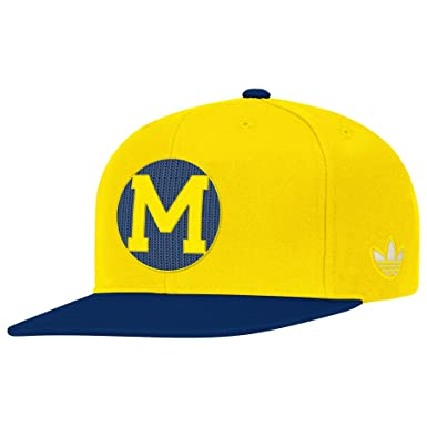 adidas NCAA Michigan Wolverines Gorra, Talla única, Amarillo/Azul ...