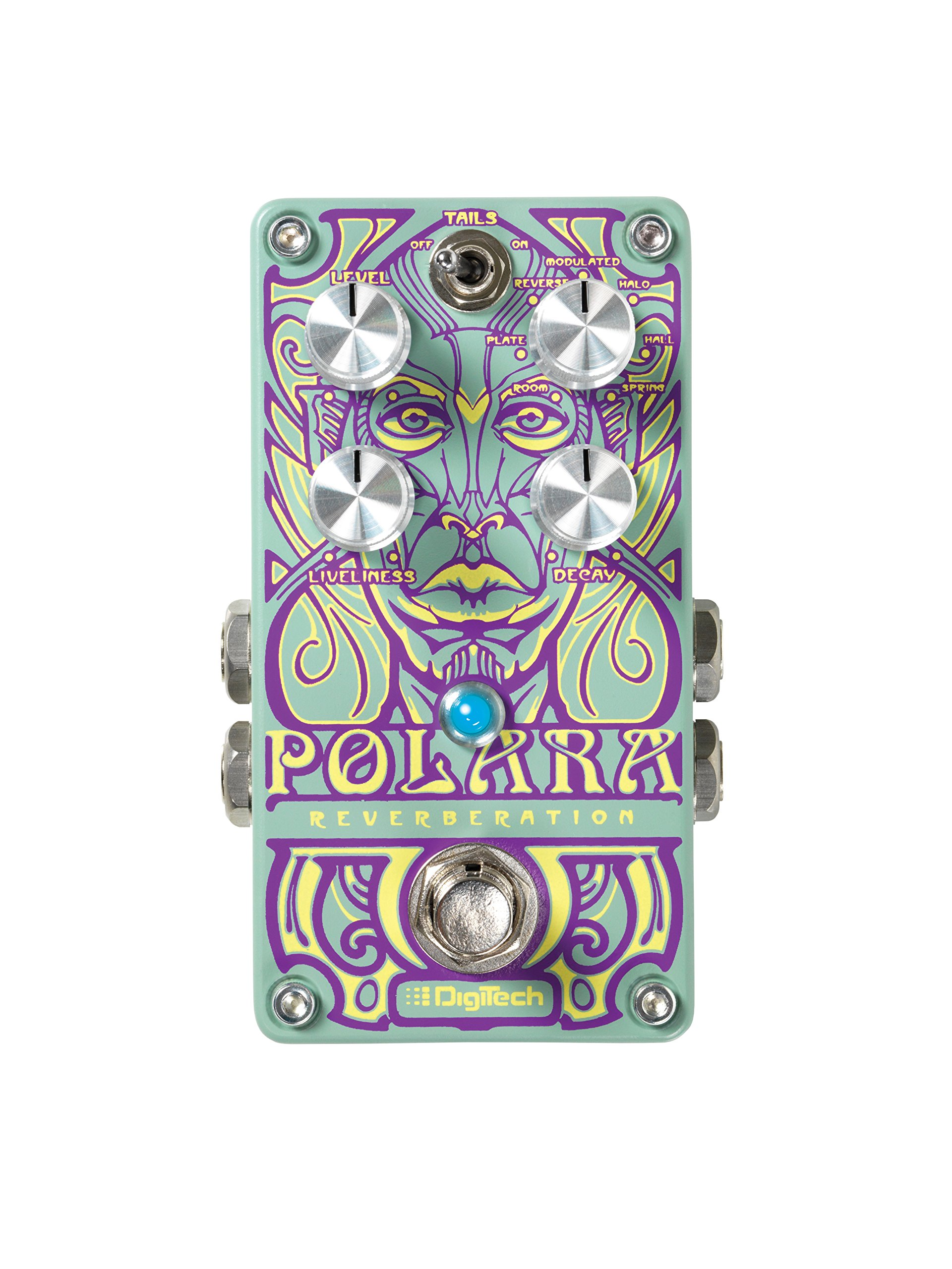 Digitech POLARA Lexicon Reverbs Stereo Pedal with On/Off Switch by DigiTech