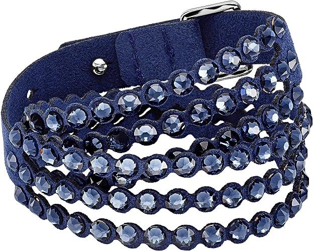 Swarovski Bracelet Power Collection, Bleu: Amazon.fr: Bijoux