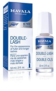 Mavala Double Lash Nutritive Eyelash Serum for the Appearance of Longer Lashes | Treatment for the Appearance of Healthy, Natural Looking + Denser Lashes or Eyebrows | 0.3 oz Bottle
