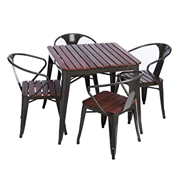 5 Piece Outdoor Dining Set is great for Entertaining Family and Friends on Your Patio,