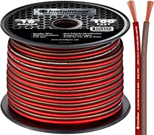 InstallGear 16 Gauge Speaker Wire OFC Oxygen-Free Copper, 100-feet