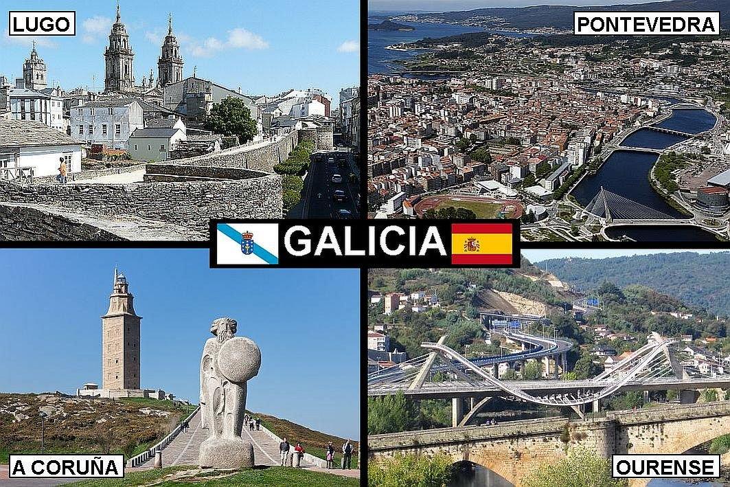IMÁN PARA NEVERA - RECUERDO de GALICIA SPAIN 9cm x 6cm Jumbo ...