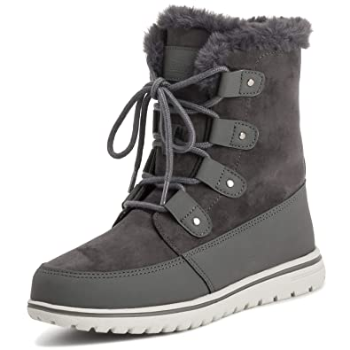 b4aa16284 Polar Womens Quilted Short Faux Fur Snow Waterproof Winter Durable Warm  Boots - 6 - GRE37