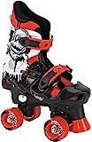 Osprey Quad Skate, Pattini a rotelle Bambino, Nero / Bianco / Rosso, 32-36
