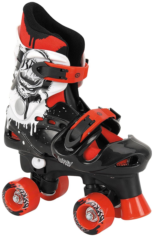 Osprey Quad Skate Rollschuhe Fü r Jungen, Mehrfarbig (schwarz/rot/weiß ), 32-36 EU (13-15 UK) TY4801