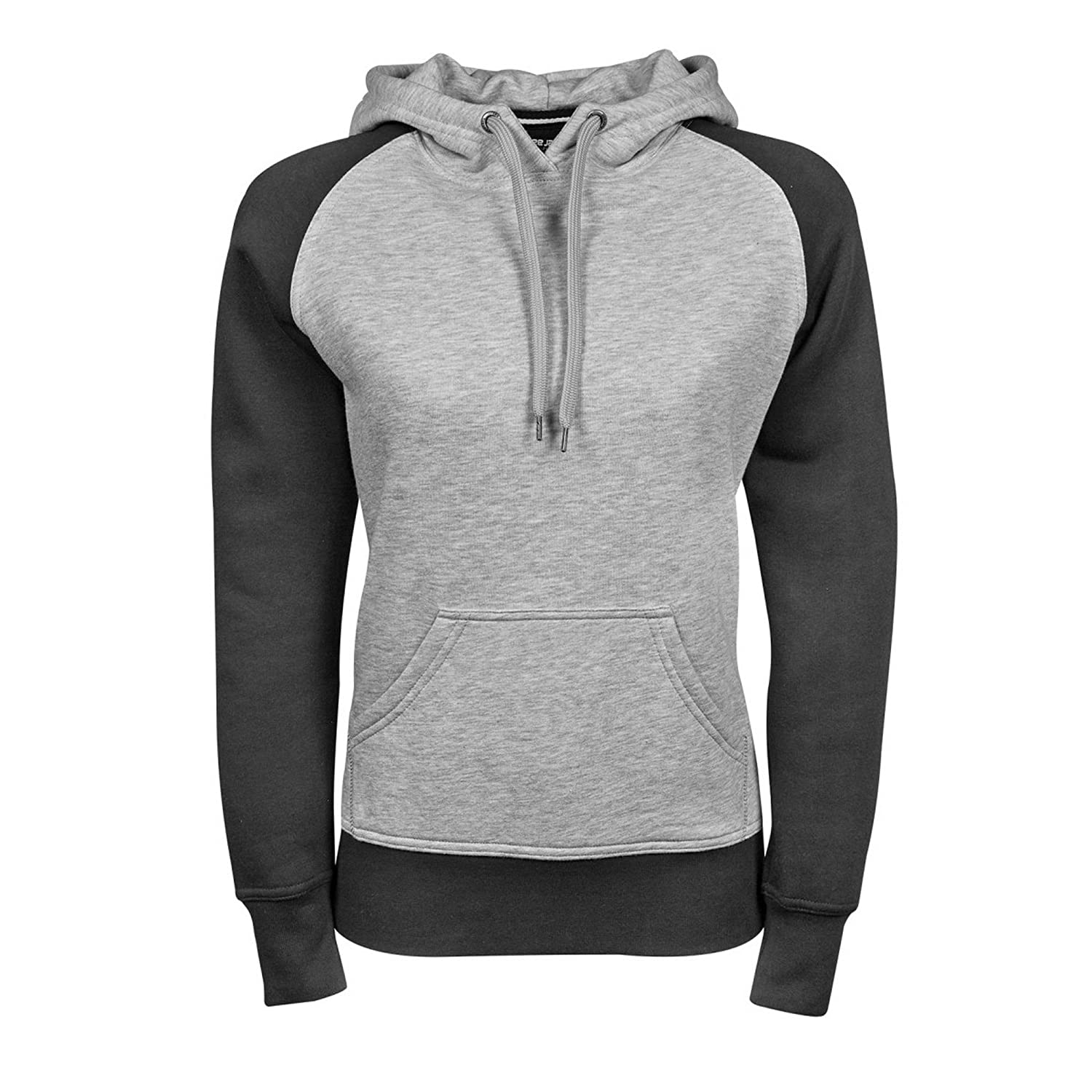Tee Jays Womens/Ladies Two-Tone Hooded Sweatshirt at Amazon Womens Clothing store: