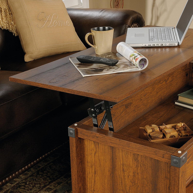 Industrial Fan Coffee Table Amazoncom Sauder Carson Forge Lift Top Coffee Table Washington