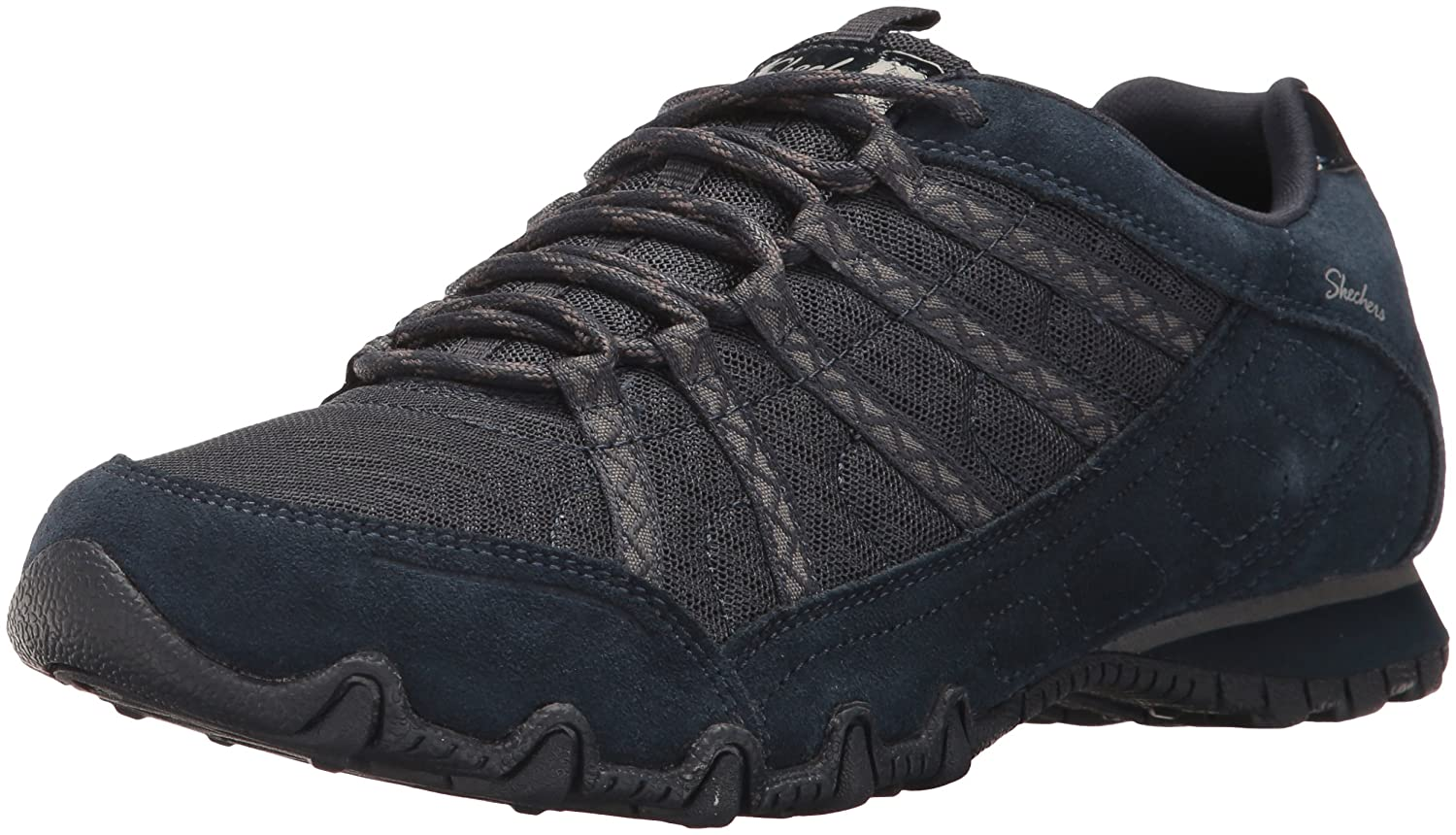 Skechers Women's Bikers-Commotion Sneaker B06ZYR61G8 5 M US|Navy