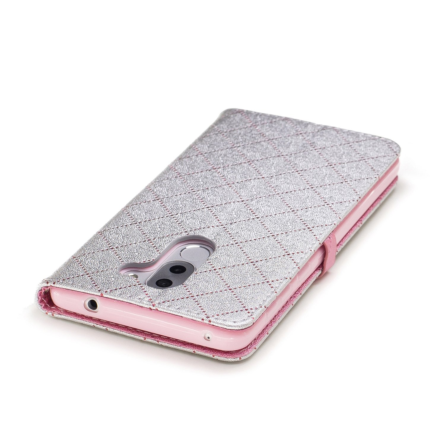 For Huawei Honor 6X Kickstand Feature Magnetic Closure COZY HUT Huawei Honor 6X Wallet Case,Huawei Honor 6X Leather Case,Premium Flip Wallet Case with Rose red love Card Slots
