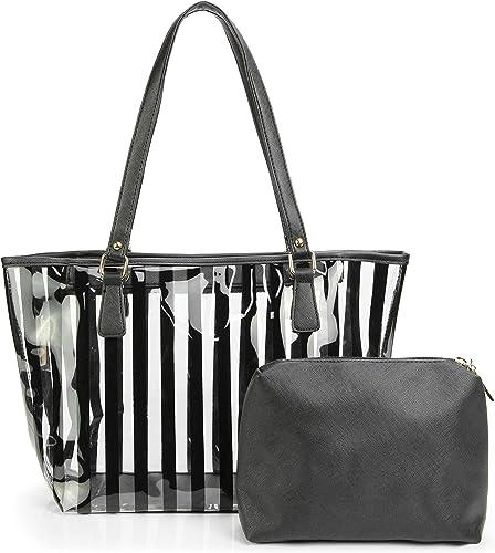 Amazon.com: Bolso de playa 2 en 1 semitransparente bolsa de ...