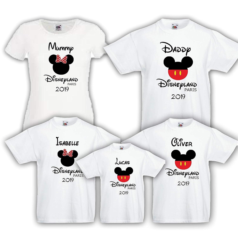 6f571d381 Disneyland Paris 2019 Personalised Family T shirts Bundles: Amazon.co.uk:  Handmade