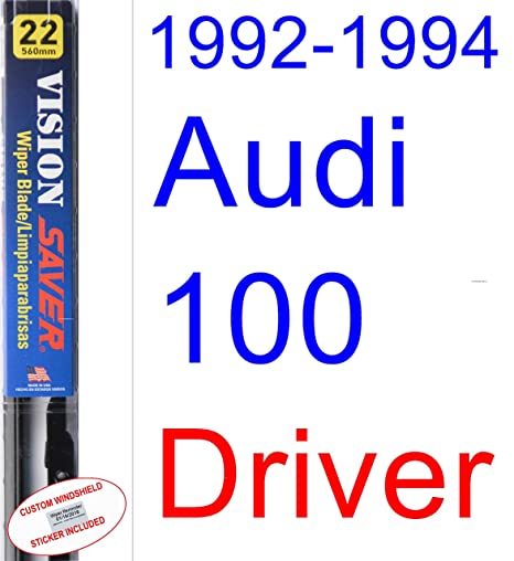 Amazon.com: 1992-1994 Audi 100 Wiper Blade (Driver) (Saver Automotive Products-Vision Saver) (1993): Automotive