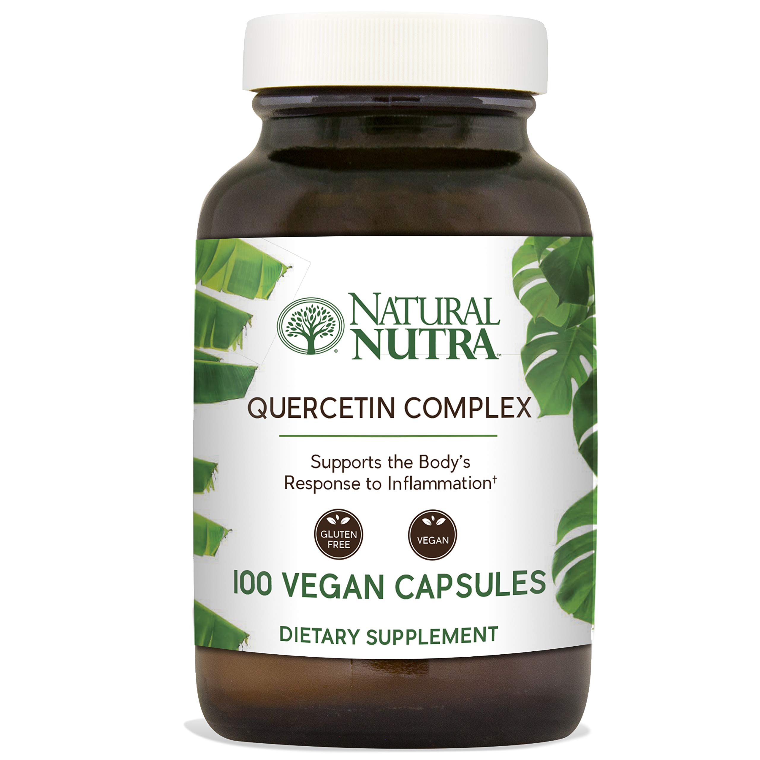 Natural Nutra Quercetin Complex with Bromelain, Vitamin C Citrus Bioflavonoid Supplement, Antioxidant and Inflammation Support, 100 Vegan and Vegetarian Capsules