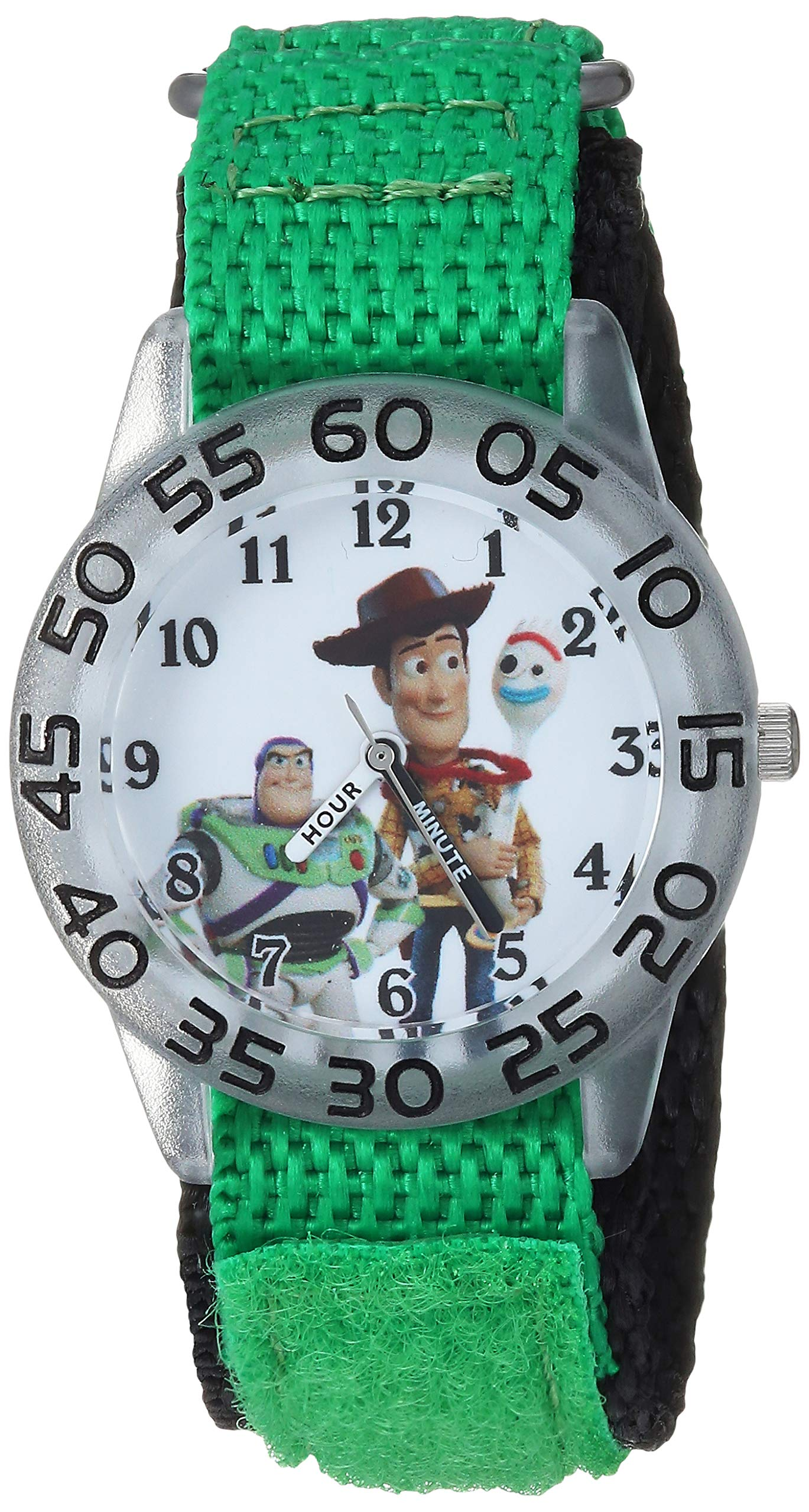Disney Boys Toy Story 4 Analog-Quartz Watch with Nylon Strap, Green, 20 (Model: WDS000706) by Disney