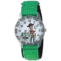 Boys Toy Story 4 Analog-Quartz Watch with Nylon Strap, Green, 20 (Model: WDS000706)