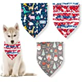 ABOZY Christmas Dog Bandana,Triangle Scarf Pet Bandanas Bibs Scarf Accessories for Dogs Cats Pets