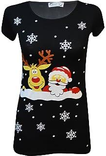 a6ca0062b MyMix Trendz - Womens Novelty Christmas T-Shirts Frozen Olaf Reindeer  Snowman…