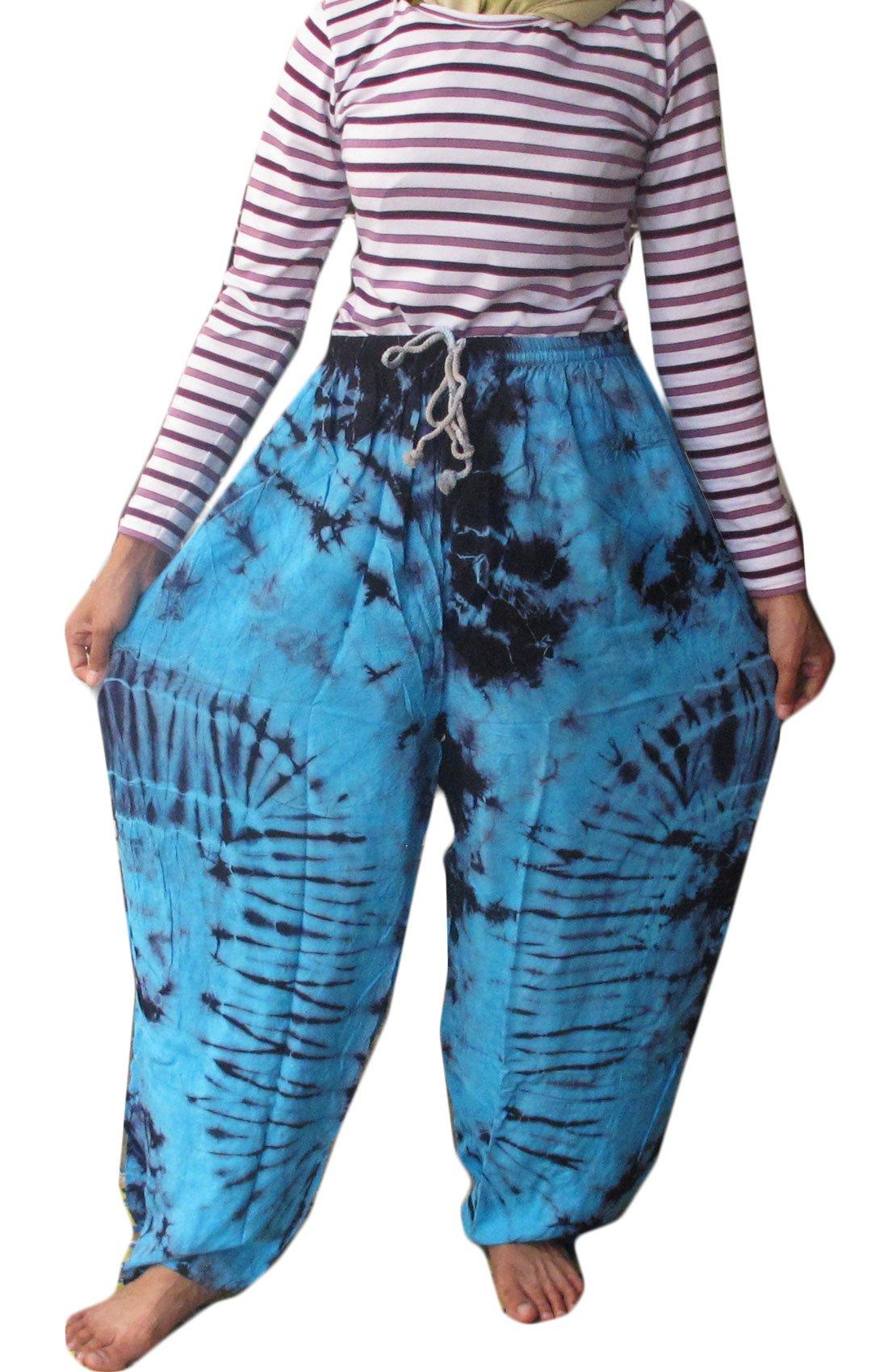 Relaxation Cotton Rayon Tie Dye Fisherman Yoka Pants Hippie Baggy