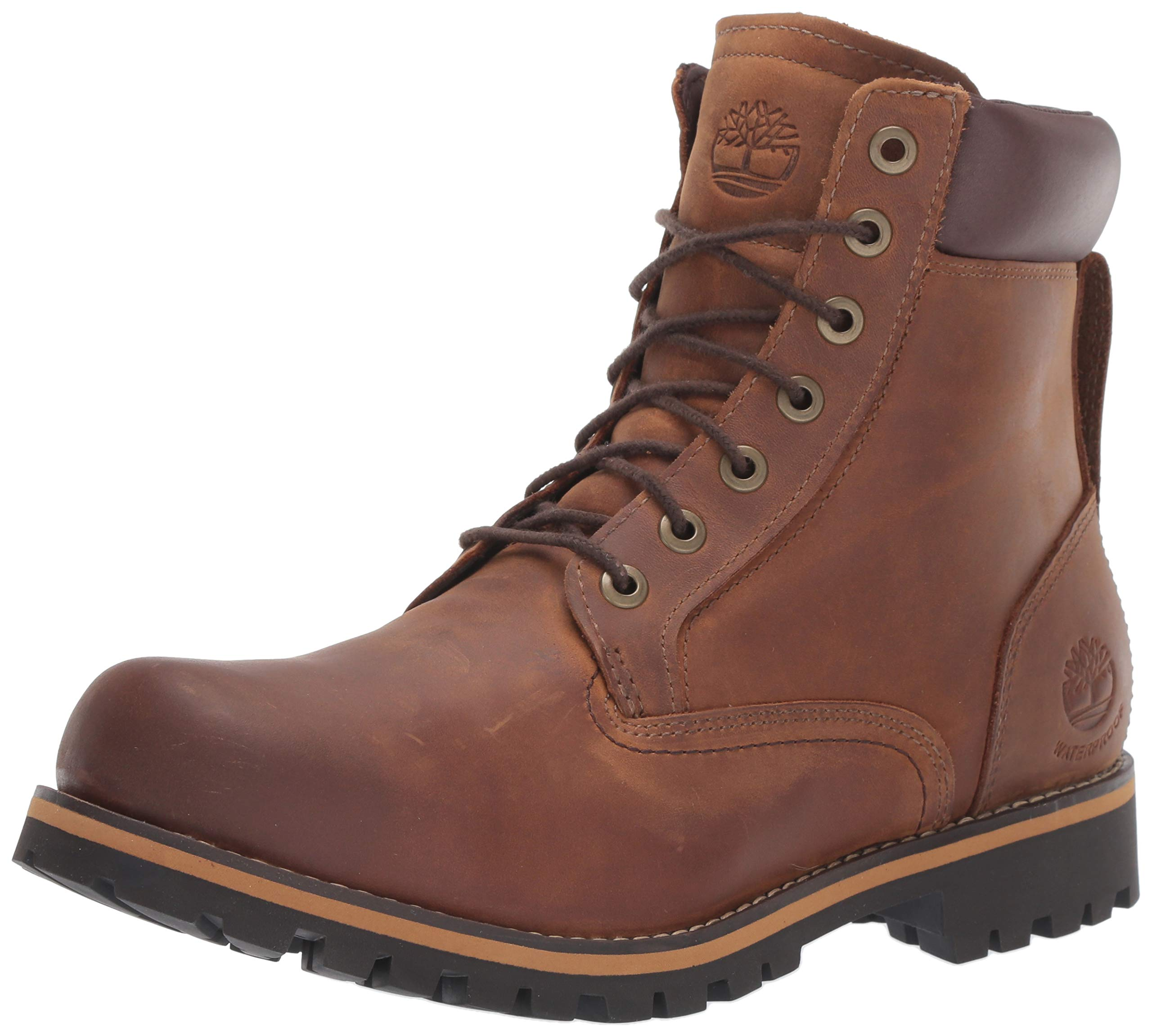 Timberland Men's Earthkeepers Rugged Boot, Medium brown full grain, 7.5 M US