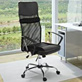 Miadomodo Office Chair (Black) Ergonomic Seat Height Adjustable Executive Desk Furniture