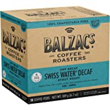 Balzac's Coffee Roasters – Swiss Water Decaf | 100% Compostable Pods | Single Serve K-Cup Pods | Dark (Stout) Roast | Full Bo