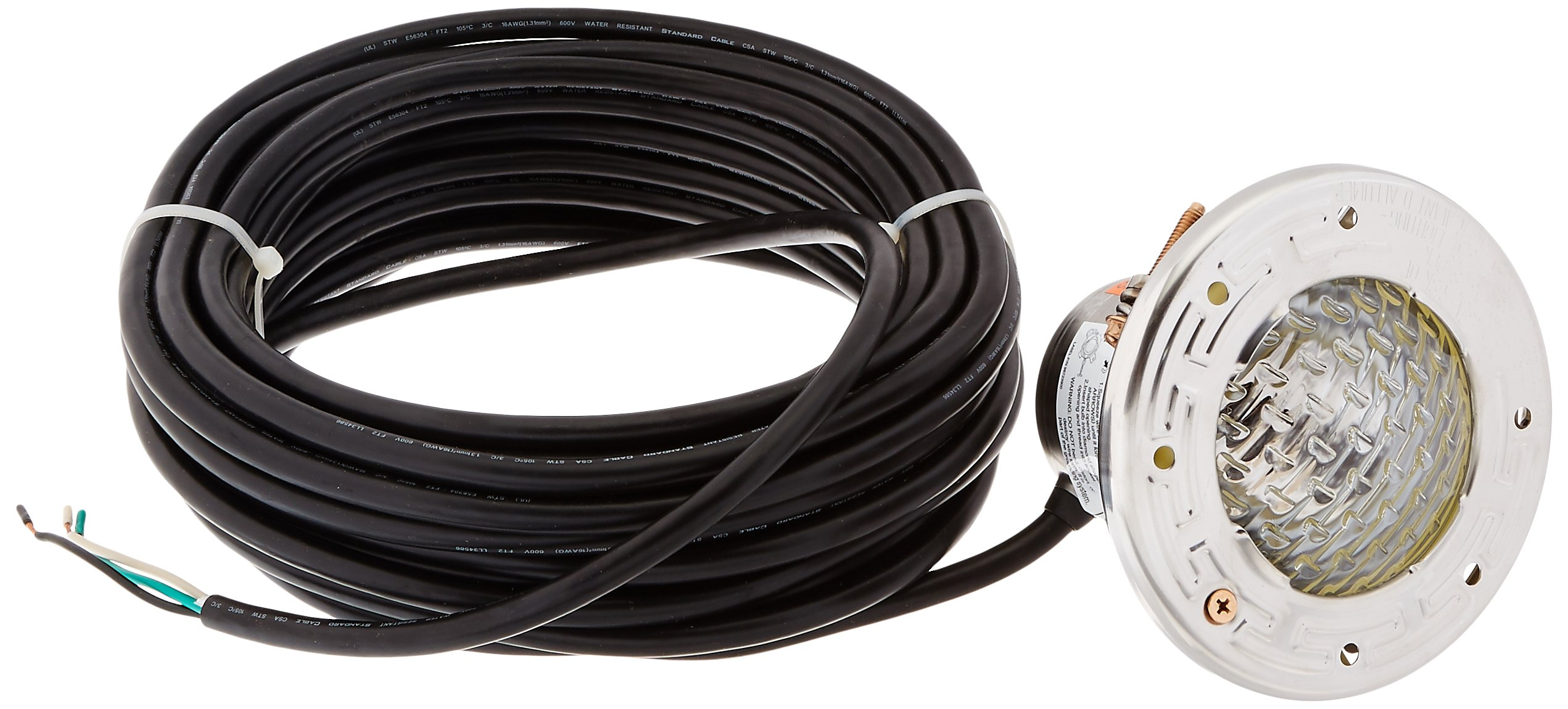 Pentair 77118100 Stainless Steel AquaLight Halogen Quartz Light 120-Volt 100-Watt, 50-Feet Cord by Pentair