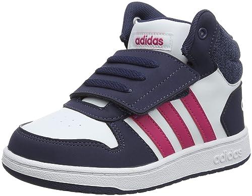 2 Adidas Bébé Garçon Hoops Mid 0 Basses ISneakers wnP80XOk