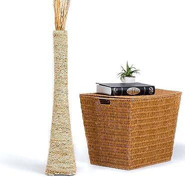 Home decor W121 Slender Tall Vase Handmade Japanese Ceramics Blue Vase