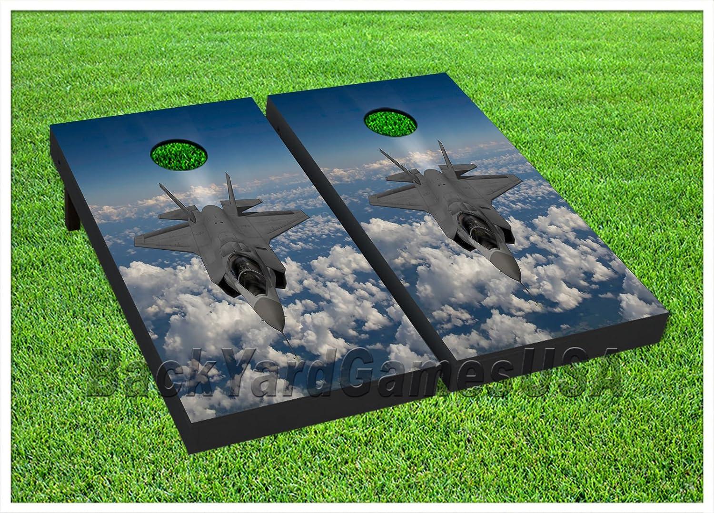 ビニールラップCornholeボードデカールFighter B076L3RZZT Jet Jet PlaneバッグToss Gameステッカー251 Gameステッカー251 B076L3RZZT, 全日本送料無料:a92a5956 --- harrow-unison.org.uk