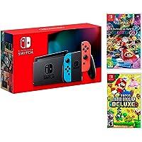 Nintendo Switch Rouge/Bleu Néon 32Go + New Super Mario Bros. U Deluxe + Mario Kart 8 Deluxe [Deluxe Pack]