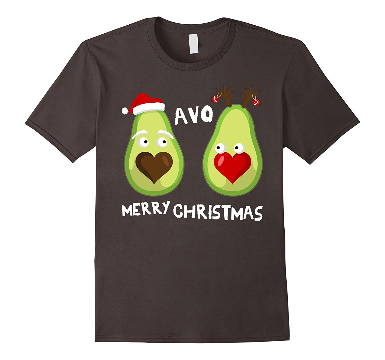 Avo Merry Christmas Cute Matching Couple T-Shirt I Avo You-FL
