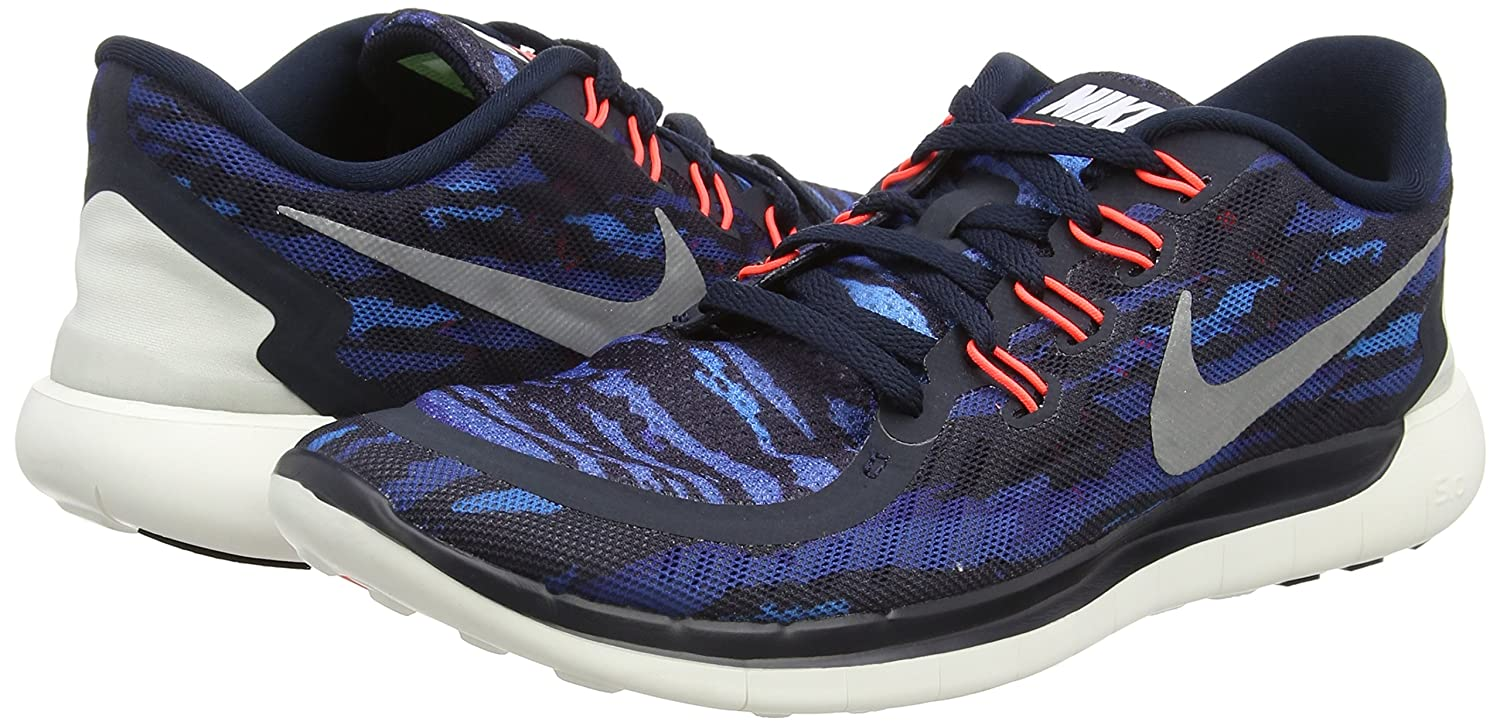 Nike Free 5.0 Print -, Homme, Multicolore (sq/smmt WHT-TRB GRN-Crystl GRN), Taille 45