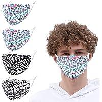 4pcs Face Masks Reusable Fabric Cloth Breathable Fashion Design Protective