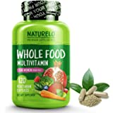 NATURELO Whole Food Multivitamin for Women - Iron Free - Natural Vitamins, Minerals, Raw Organic Extracts - Best for Post Menopausal Women Over 40 - Vegan - No GMO - 120 Capsules