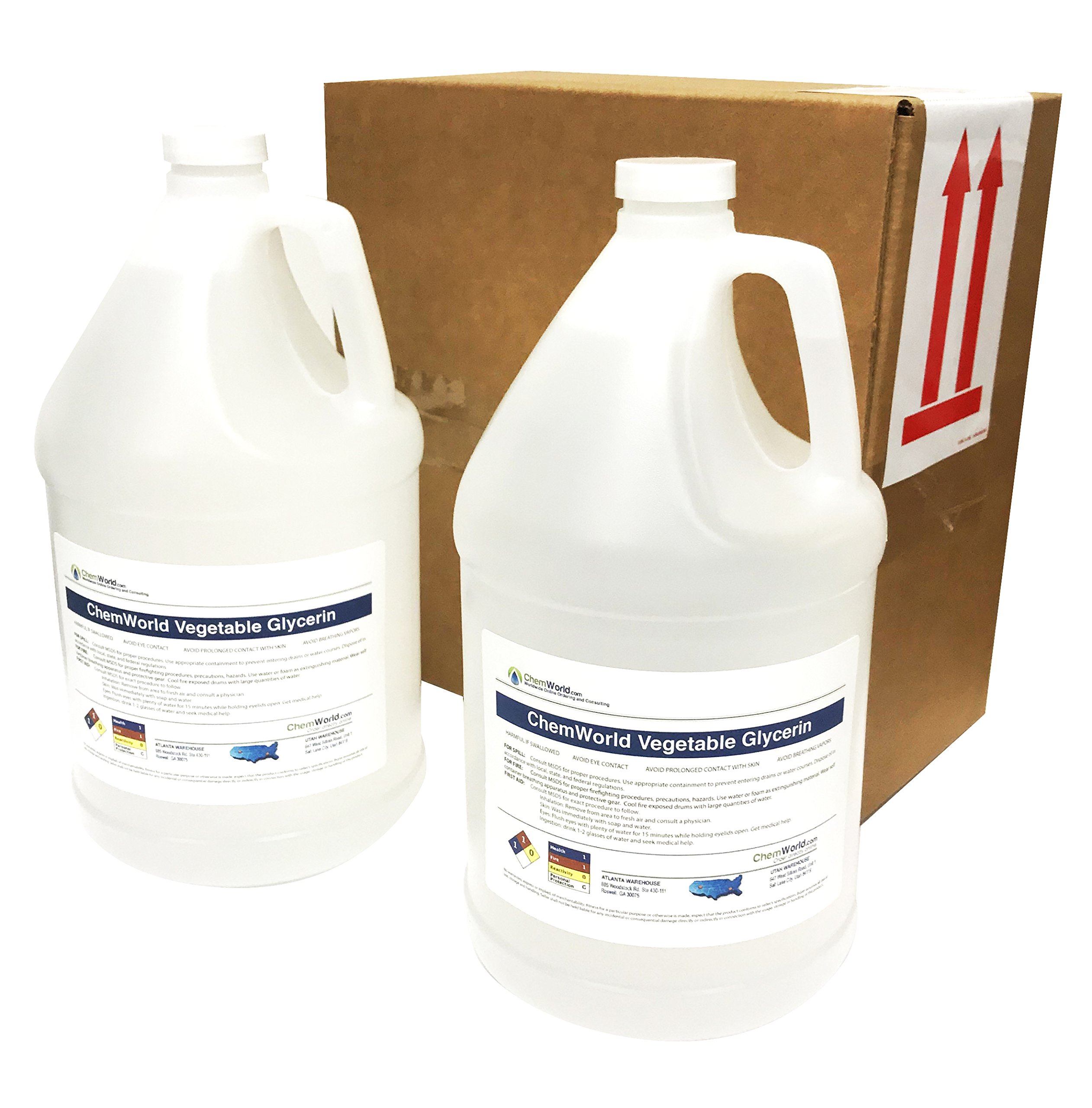 ChemWorld Vegetable Glycerin - 4x1 Gallons by ChemWorld (Image #1)