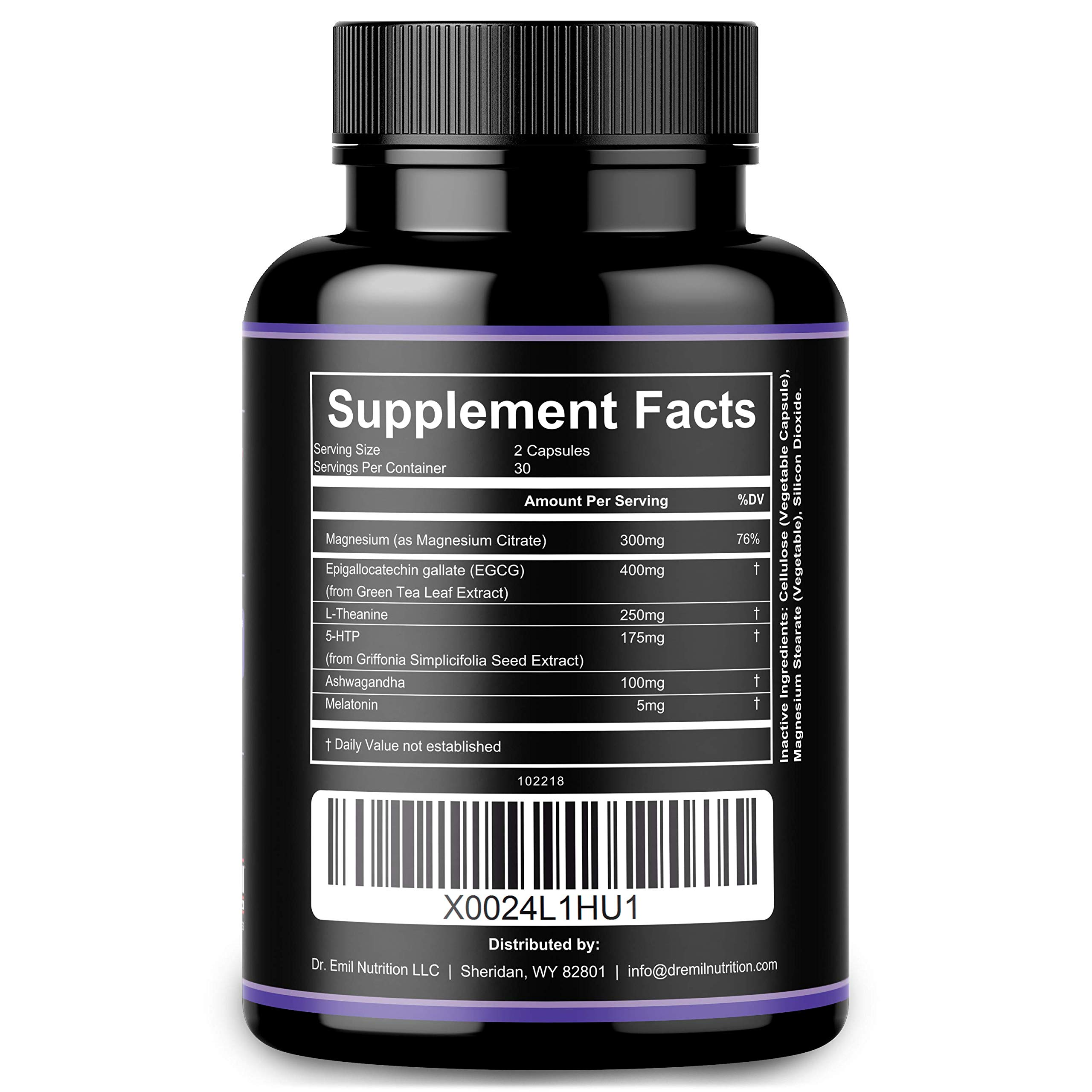 Dr. Emil - PM Fat Burner, Sleep Aid and Night Time Appetite Suppressant - Stimulant-Free Weight Loss Pills and Metabolism Booster for Men and Women (60 Vegan Diet Pills) by DR EMIL NUTRITION (Image #7)