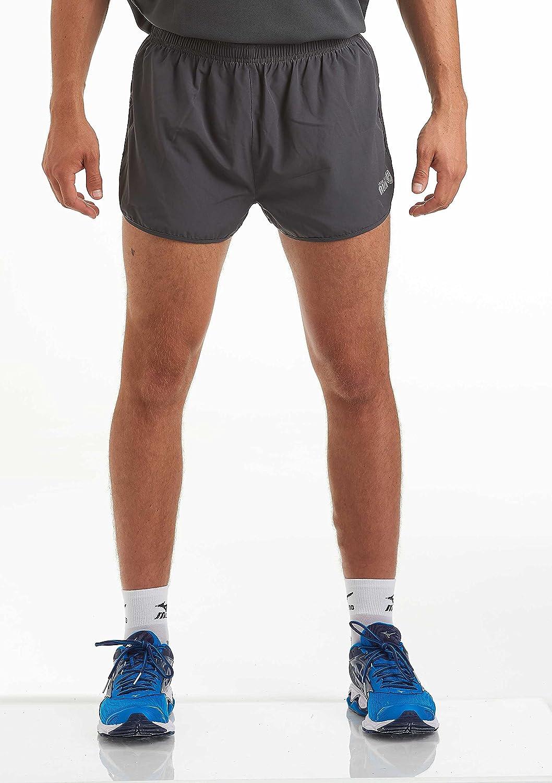 Time To Run Shorts de Hombre para Correr//Gimnasia//Entrenamiento con Forro y Bolsillo con Cremallera