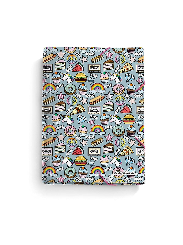 Jordi Labanda 20881 - Carpeta solapas stickers, polipropileno 0,7 mm, A4: Amazon.es: Oficina y papelería