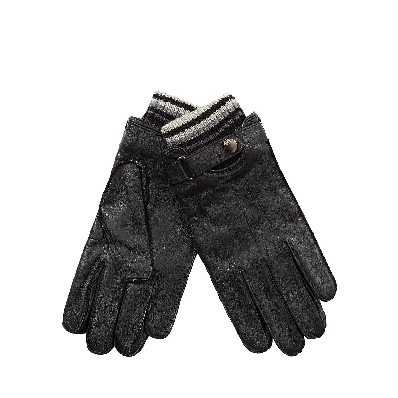 Mens black leather gloves debenhams - Rjr John Rocha Mens Black Leather Touch Screen Knitted Cuff Gloves S M Rjr John Rocha Amazon Co Uk Clothing