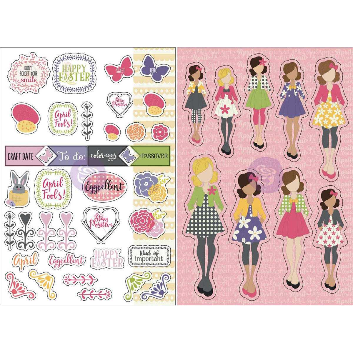 By Julie Nutting Prima Marketing Planner Monthly Stickers September