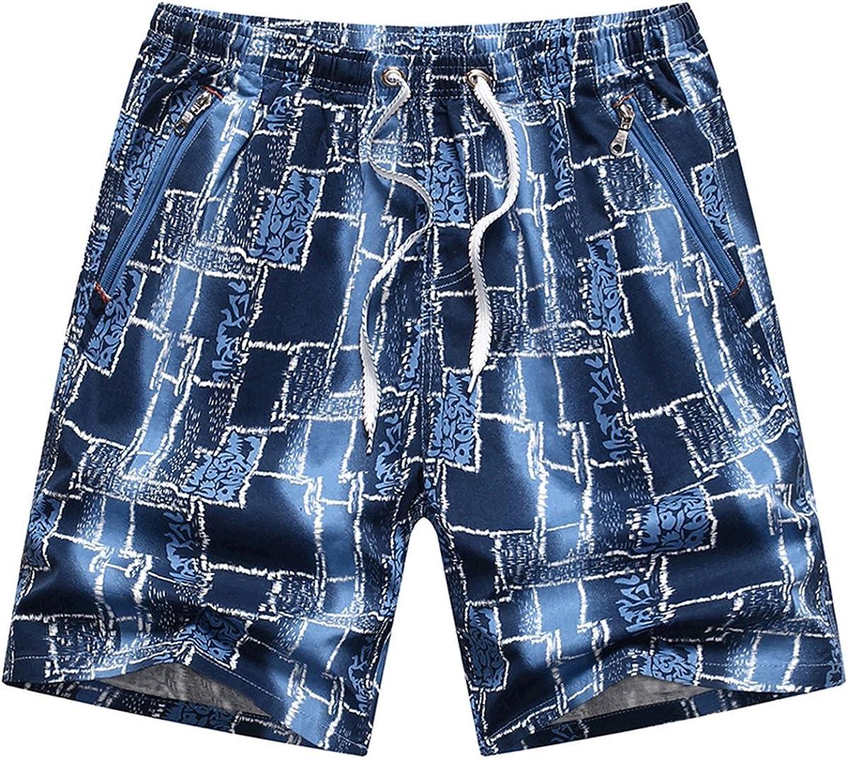Hanxue Mens Beach Shorts With Pockets Quick Dry Summer Boardshort Shorts