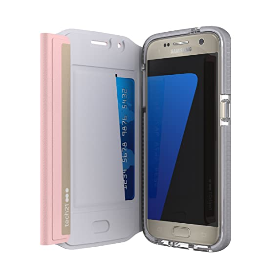 the latest 14759 5843b Tech21 Evo Wallet Case For Samsung Galaxy S7 Pink