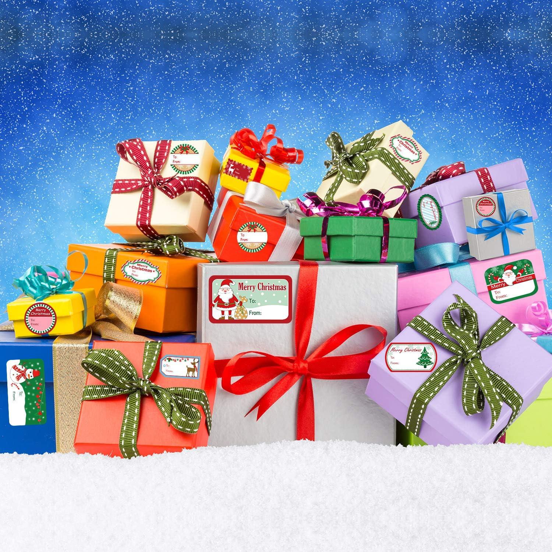 Azul, Verde, Blanco, Rojo 500 Piezas Etiquetas Adhesivas de Navidad Pegatinas de Pap/á Noel Pegatinas de Festival Cumplea/ños Navidad Boda Fiesta