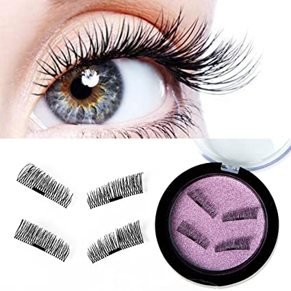 468612f8106 Image Unavailable. Image not available for. Color: 3D Magnetic False  Eyelashes Handmade Natural Look Longer Thicker Eyelash Reusable ...