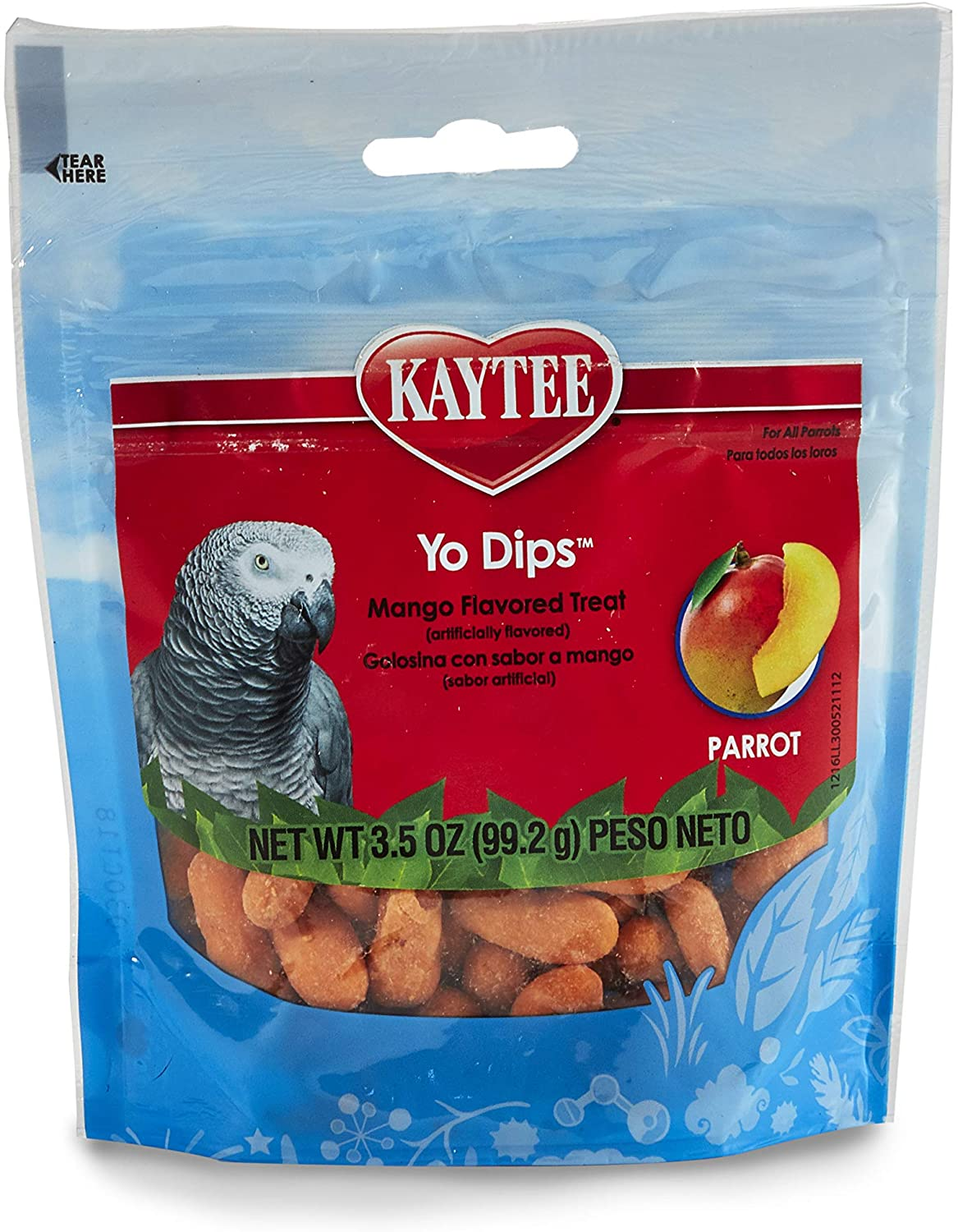 Kaytee Yogurt Dipped Mango Flavor Treat For Large Hookbills, 3.5 Oz.