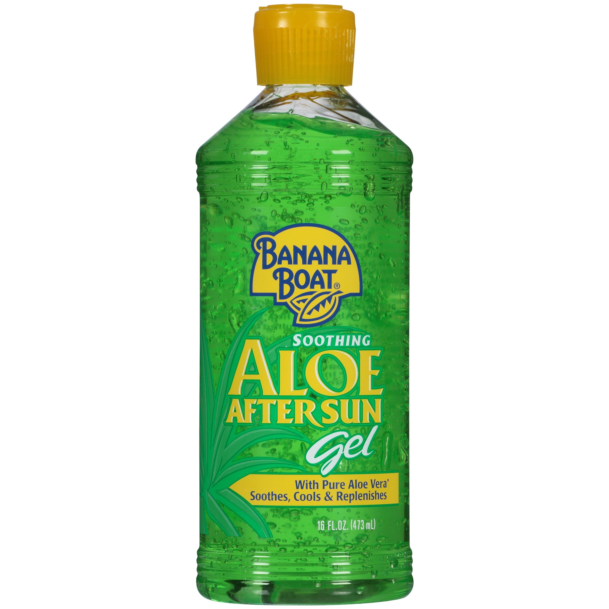 Banana Boat Soothing Aloe After Sun Gel, 16 oz (Pack of 6)