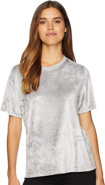 ab1d3178fe9 Amazon.com  Michael Stars Women s Velvet Short Sleeve Crew Neck Tee   Clothing